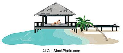 vacances, tropiques