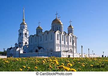 Assumption cathedral at Vladimir in summer, Russia....