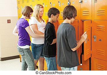 Teens at Lockers