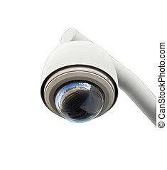 sicurezza, macchina fotografica, isolato