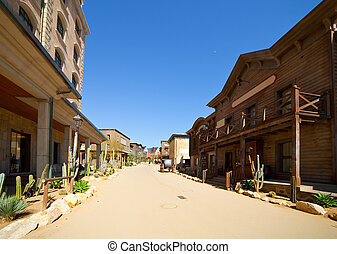 Far west town - Far west Theme Park near Salou Catalonia,...