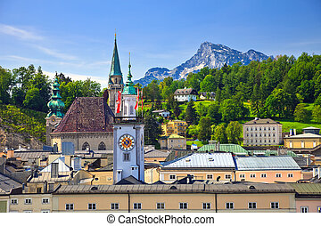 Tower of Town hall in Salzburg