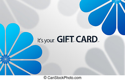 Blue Flower Giftcard - High resolution gift card graphic...