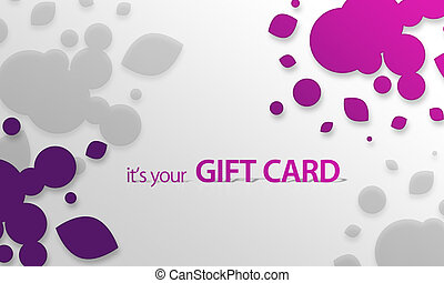 Pink, purple Object Gift Card - High resolution gift card...