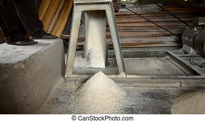 corn - mill in an industry