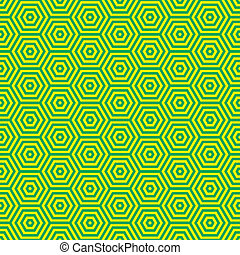 Retro seventies green pattern - Green and yellow retro...