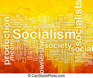 Socialism word cloud - Word cloud concept illustration of...