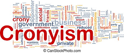 Cronyism background concept - Background concept wordcloud...