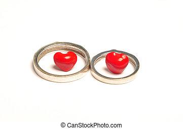 Saga seed - 2 rings 2 hearts - Saga seed representing love...