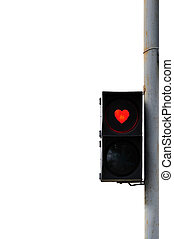 Love trafficlight - Trafficlight on the table like a red...