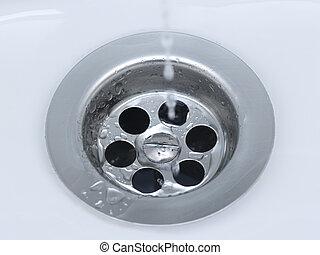 Drain - Water running down the drain