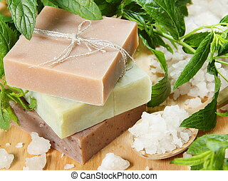 Herbal Soap and Sea Salt with Mint