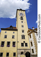 Regensburg - Tower of the old town hall in Regensburg