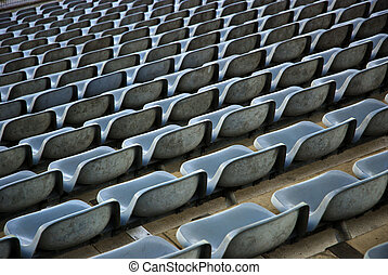 Endless Rows Of Empty Seats In A Stadium