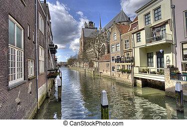 Canal in Dordrecht, Holland