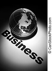 Global Business - globe, concept of Global Business