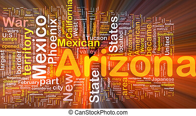 Arizona state background concept glowing - Background...