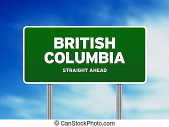 British Columbia Highway Sign - High resolution graphic of a...