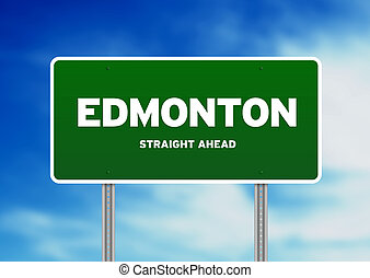 Edmonton Highway Sign - High resolution graphic of a...