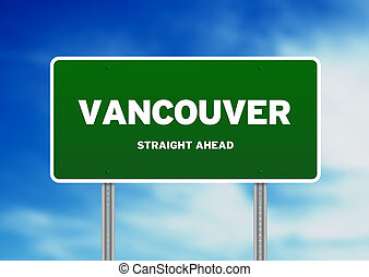 Vancouver Highway Sign - High resolution graphic of a...