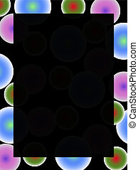 Abstract retro background with colorful neon balls