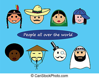 Different nationalities from all over the world