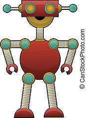 Odd Colorful Robot Illustration sta