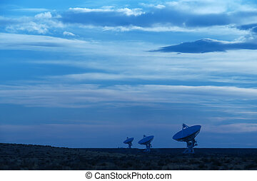 Radio telescope - A group of radio telescopes at the Very...