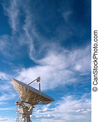 Radio telescope at the Very Large Array (VLA) in New Mexico,...