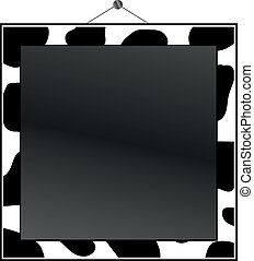 Cow print frame to put your own photo or text in.