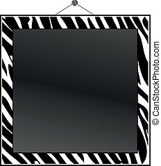 Zebra print frame to put your own photo or text in