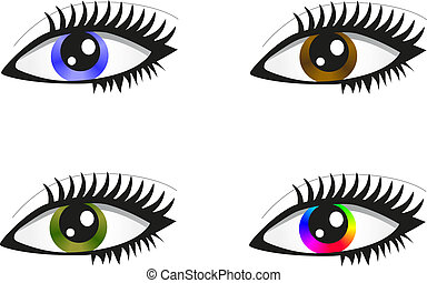 Collection beautiful colored eyes