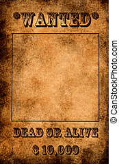Vintage grunge wanted poster