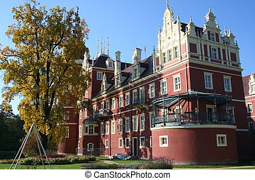 Bad Muskau in Germany - Castle of Fuerst Pueckler in Bad...