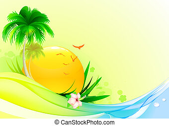 summer background - illustration of funky summer background...