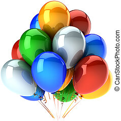 Birthday party balloons multicolor