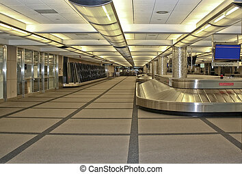 Airport Baggage Claim - Empty Airport Baggage Claim awaiting...