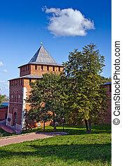 Nizhny Novgorod kremlin - Ivanovskaya tower of Nizhny...