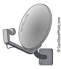Satelita, półmisek