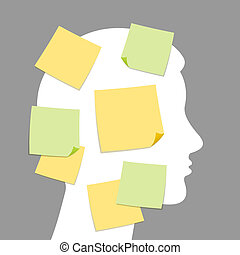 Notes and idea making - Abstract notes and idea making as...