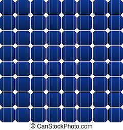 Photovoltaic panel - Flat photovoltaic panel in blue as...