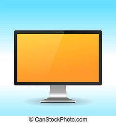 LCD monitor - Colorful LCD monitor isolated on white...