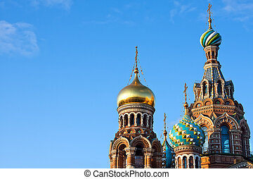 Russian church - The Church of the Savior on Spilled Blood,...