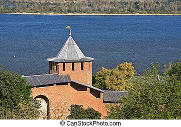 Nizhny Novgorod kremlin - Red-brick kremlin, Nizhny...