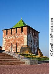Nizhny Novgorod kremlin - Tower of Nizhny Novgorod kremlin,...