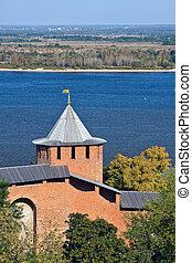 Nizhny Novgorod kremlin - Belaya tower of Nizhny Novgorod...