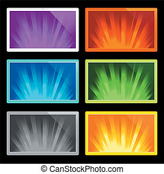 illustration of rays of light - illustration of colorful...