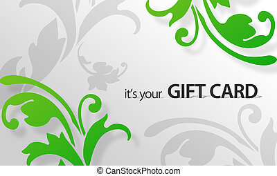 Green Flower Giftcard - High resolution gift card graphic...