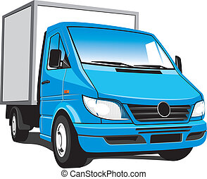 Delivery truck - Vector isolated delivery, cargo truck