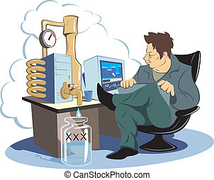 Modding - Vector color caricature modding PC - Distillation...